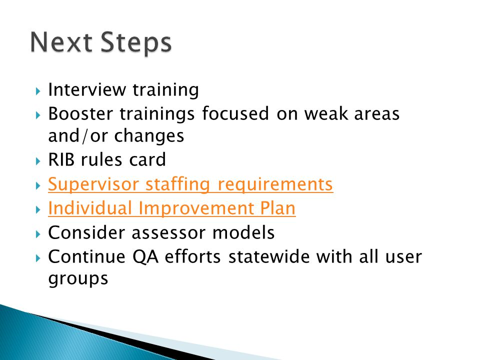 Next Steps Interview training