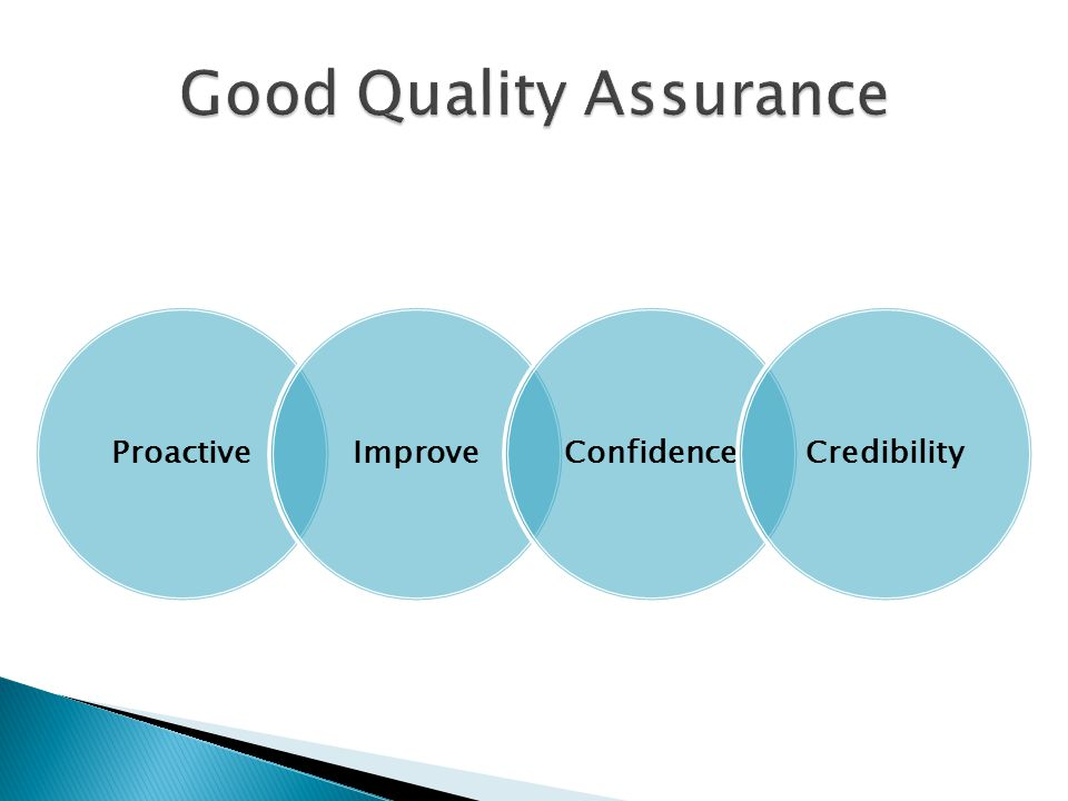 Good Quality Assurance
