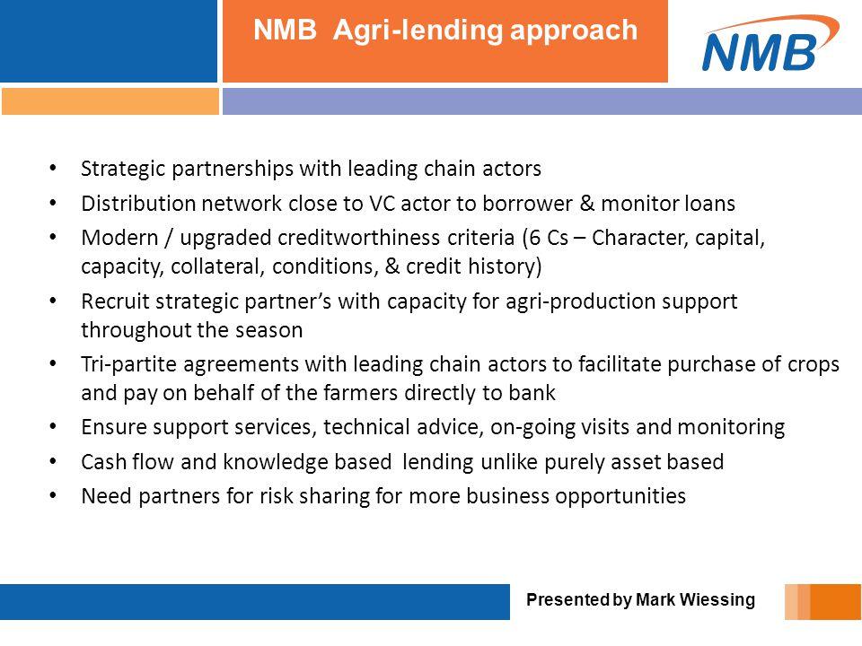NMB Agri-lending approach