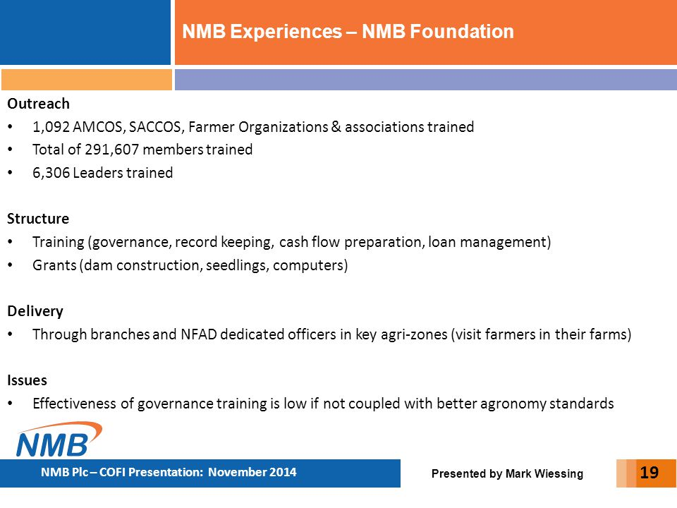 NMB Experiences – NMB Foundation