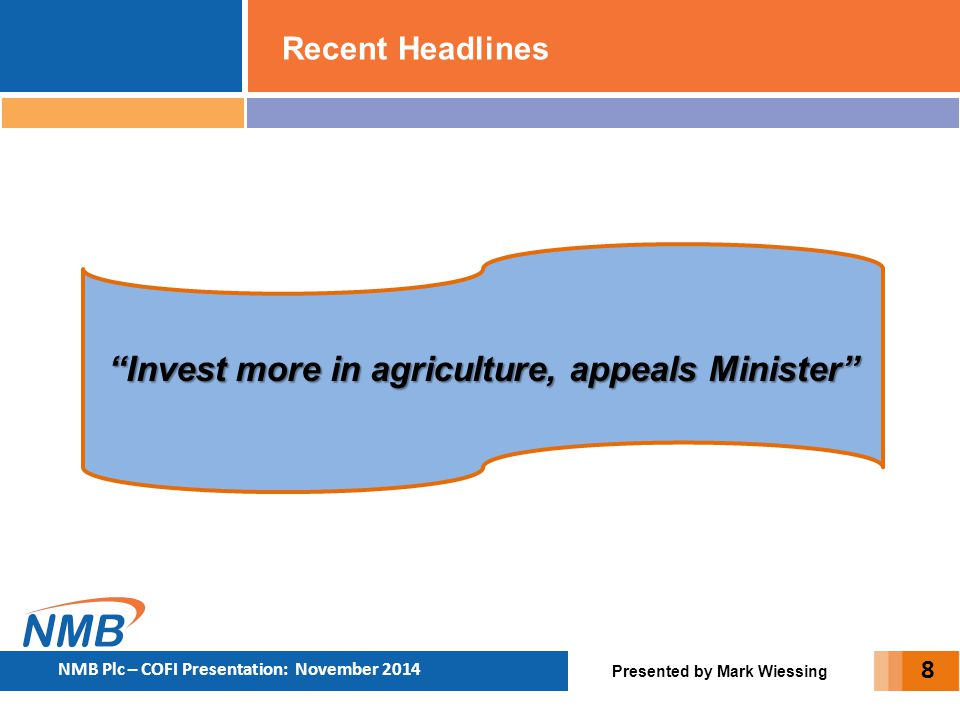 Invest more in agriculture, appeals Minister