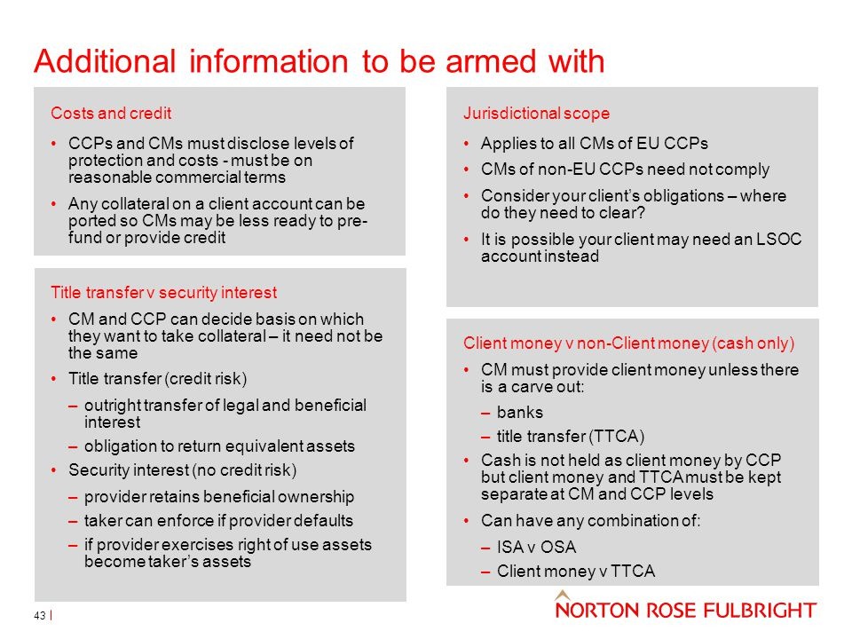 Additional information to be armed with