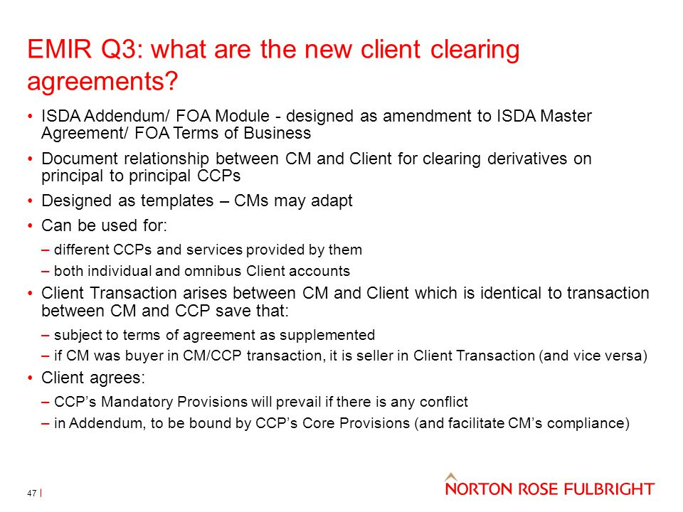EMIR Q3: what are the new client clearing agreements