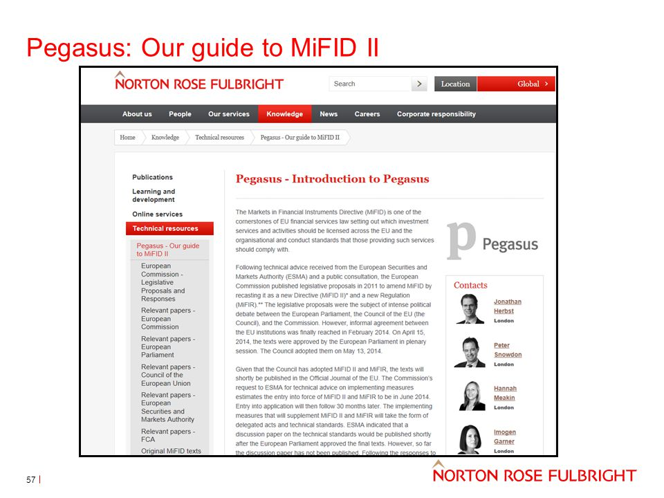 Pegasus: Our guide to MiFID II