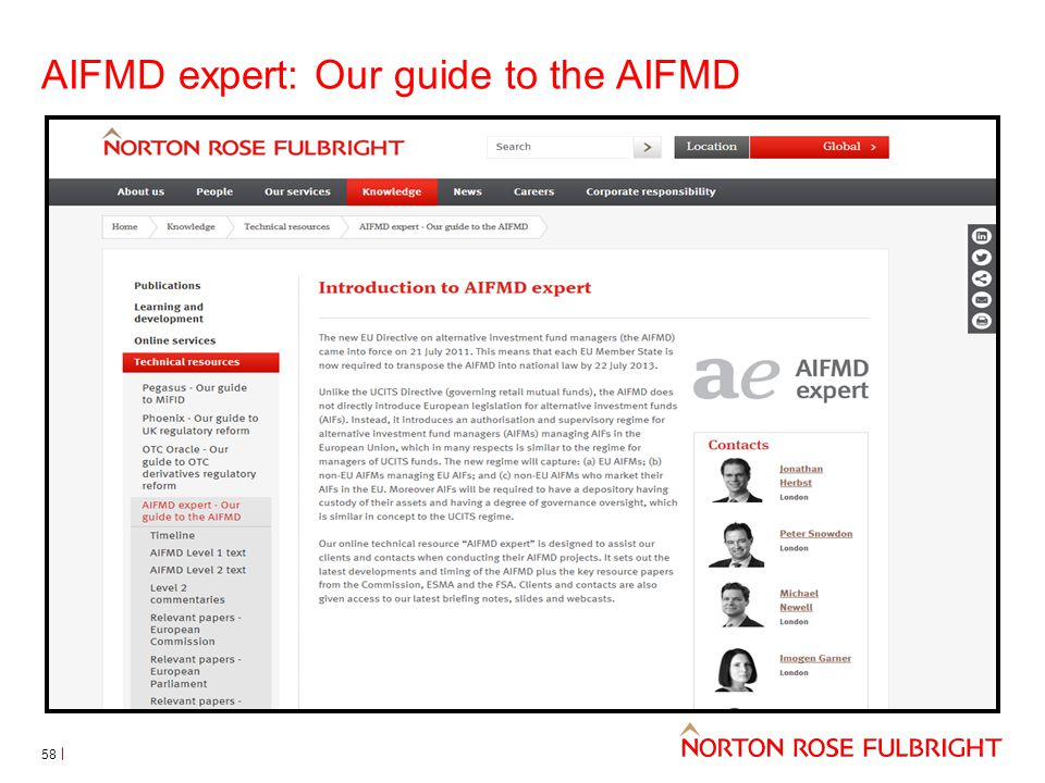 AIFMD expert: Our guide to the AIFMD