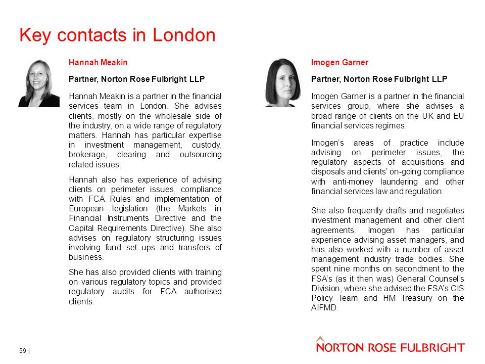 Key contacts in London Hannah Meakin