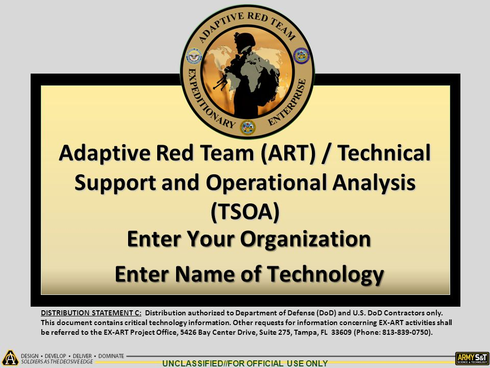 Enter Your Organization Enter Name of Technology