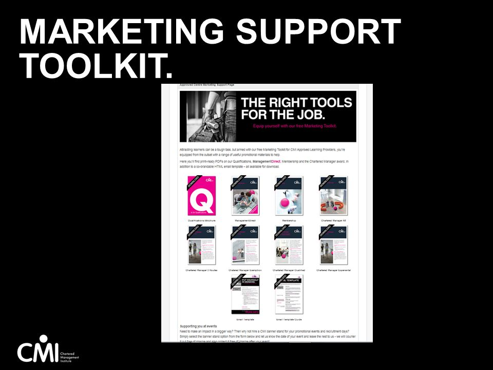 MARKETING SUPPORT TOOLKIT.