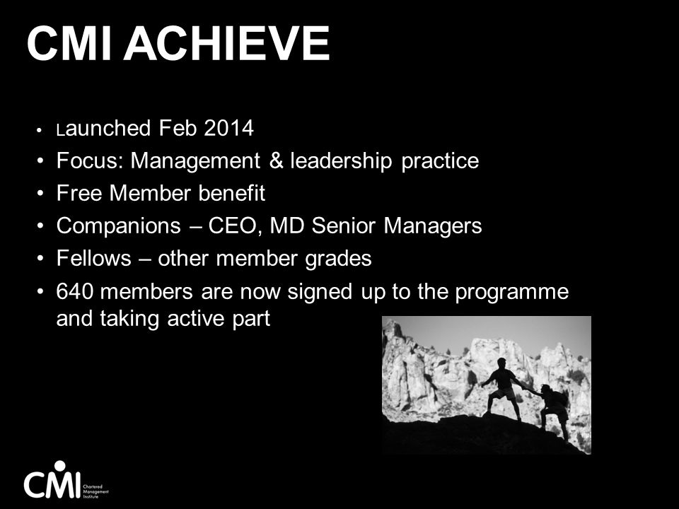 CMI Achieve Focus: Management & leadership practice