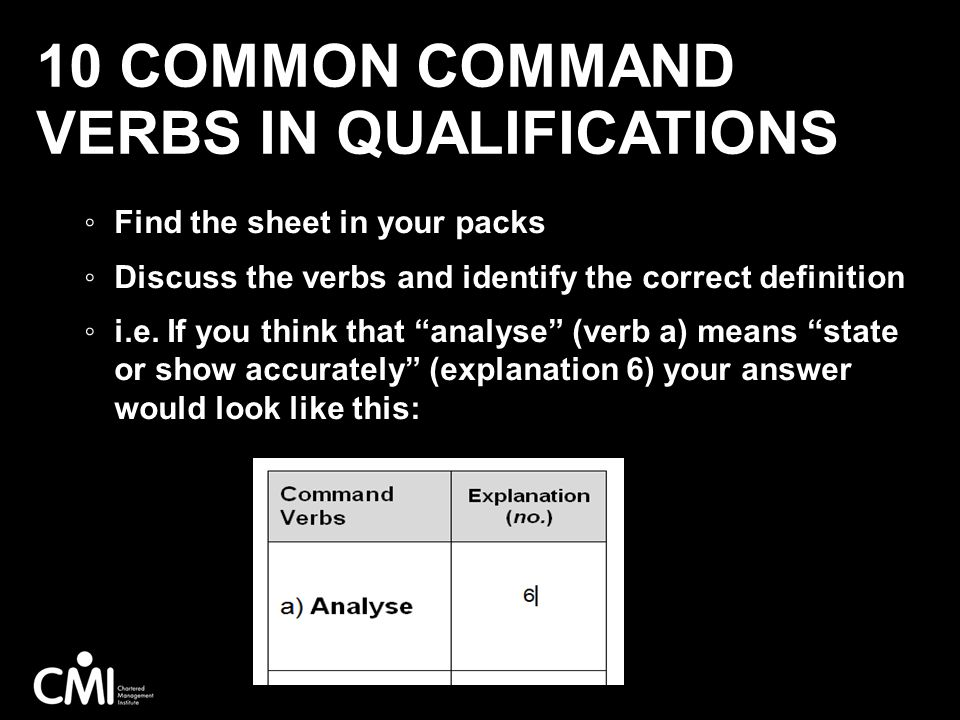 10 Common Command Verbs in Qualifications