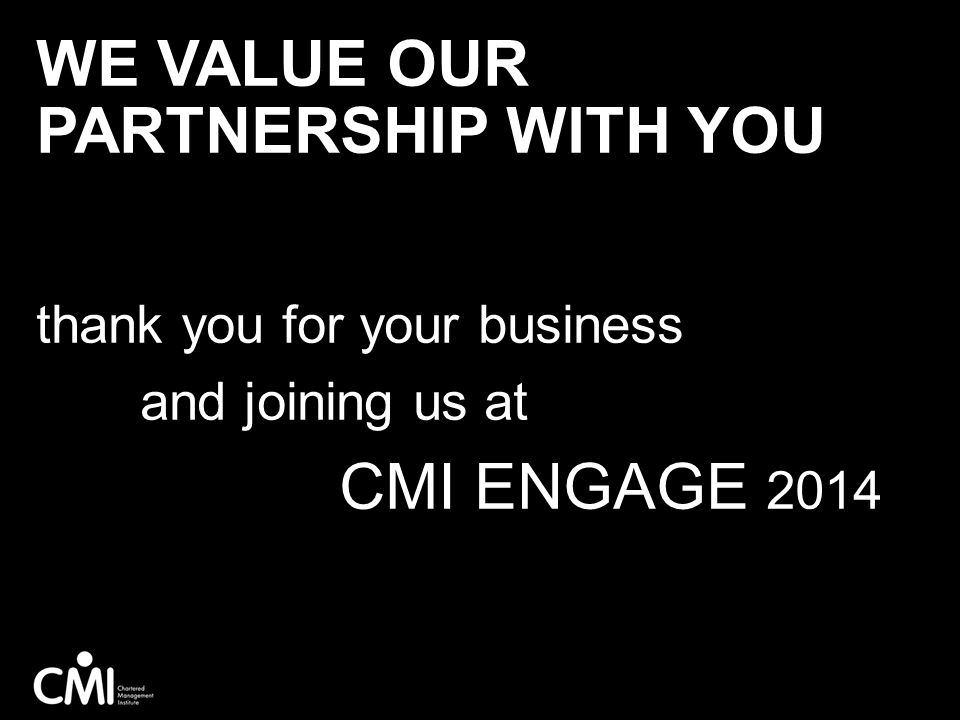 We value our partnership with you