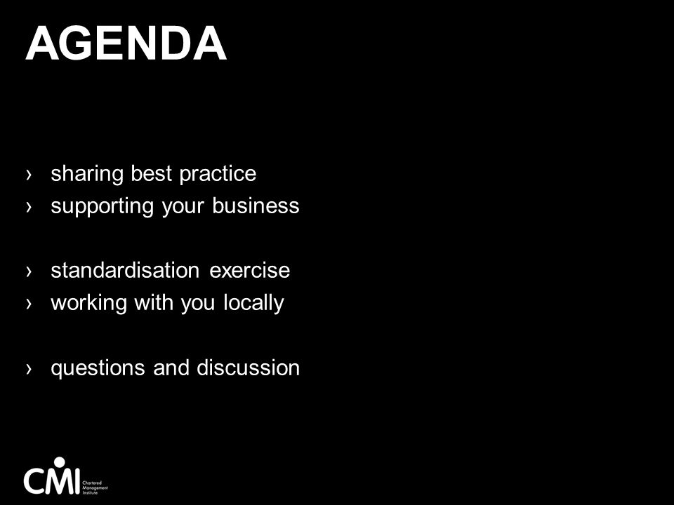 Agenda sharing best practice supporting your business