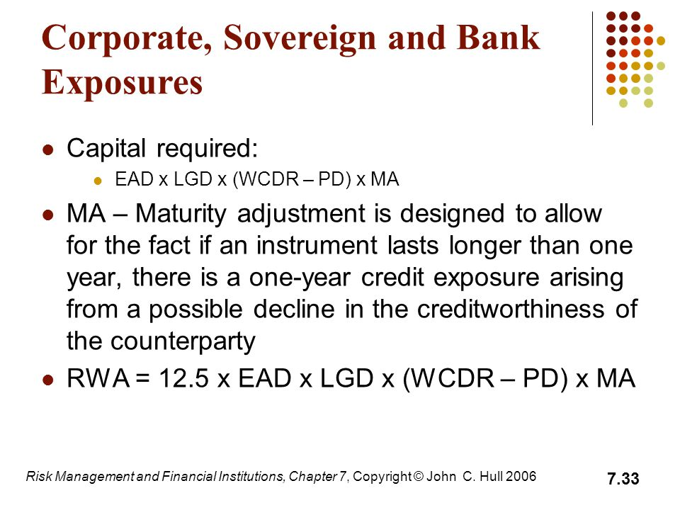 Corporate, Sovereign and Bank Exposures