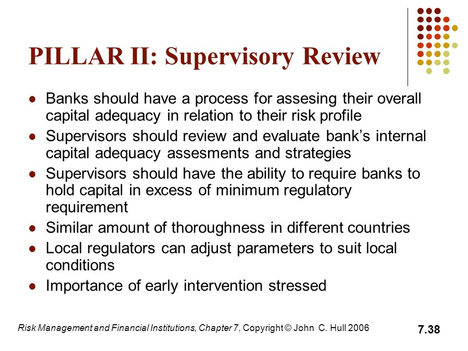 PILLAR II: Supervisory Review