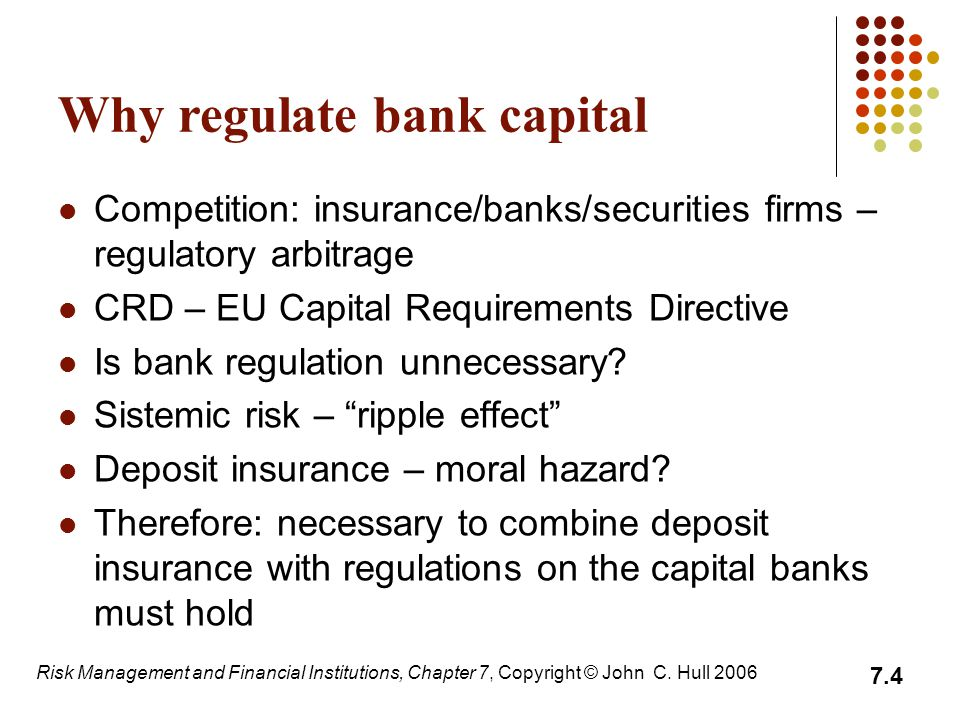 Why regulate bank capital