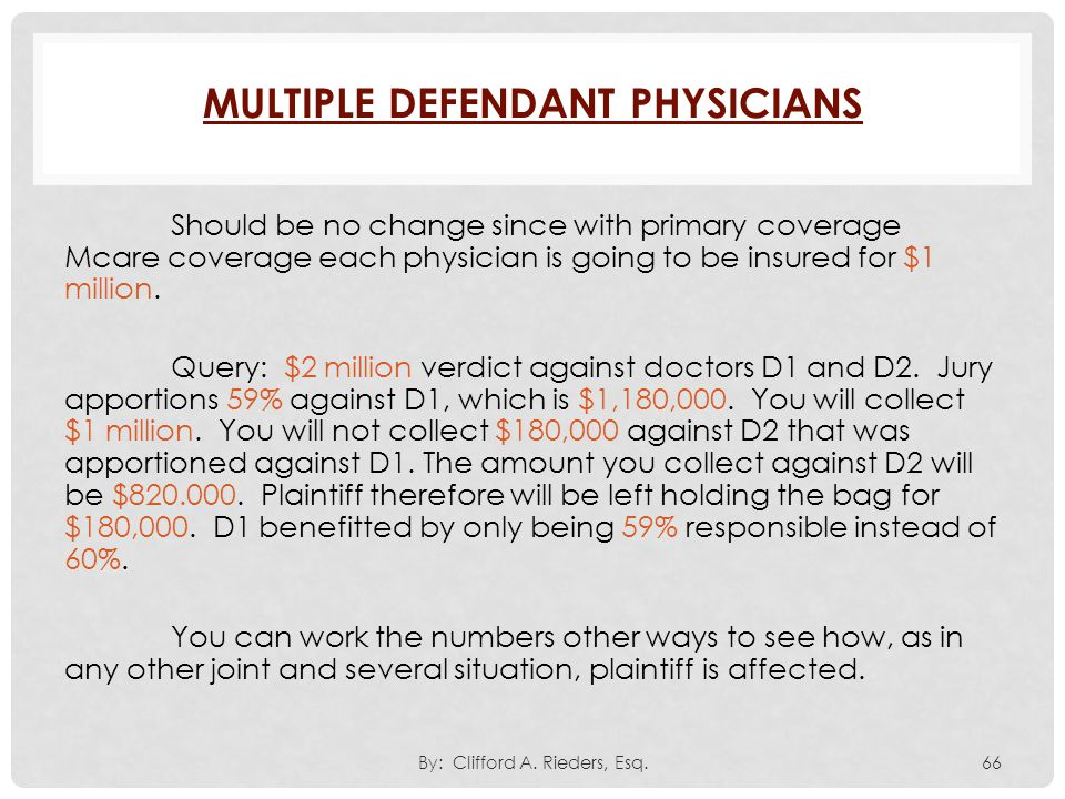 Multiple Defendant Physicians