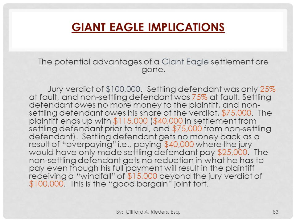 Giant Eagle Implications