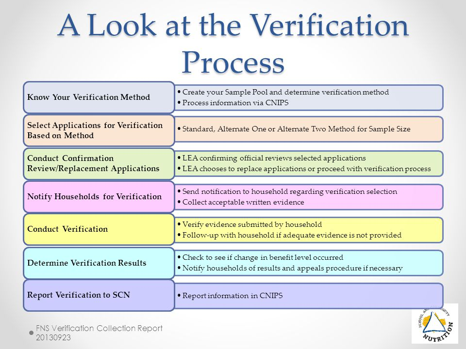 A Look at the Verification Process