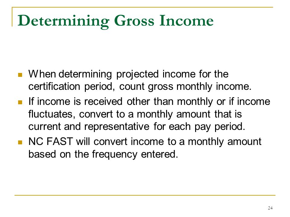 Determining Gross Income