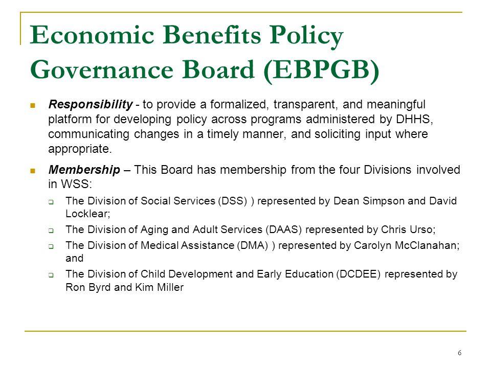 Economic Benefits Policy Governance Board (EBPGB)