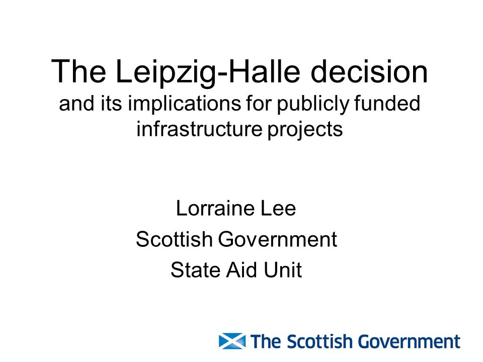 Lorraine Lee Scottish Government State Aid Unit