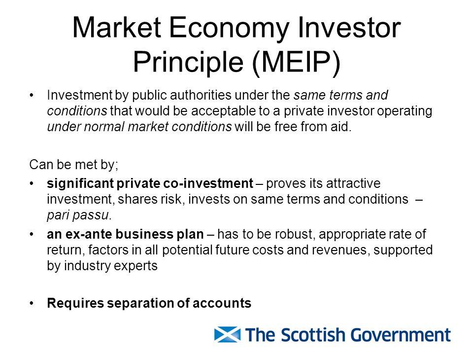 Market Economy Investor Principle (MEIP)