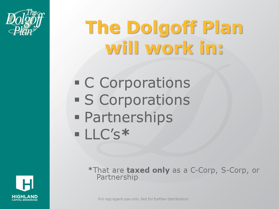 The Dolgoff Plan will work in: