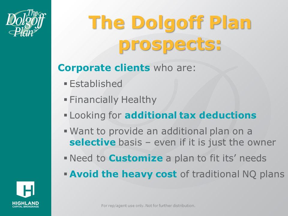 The Dolgoff Plan prospects: