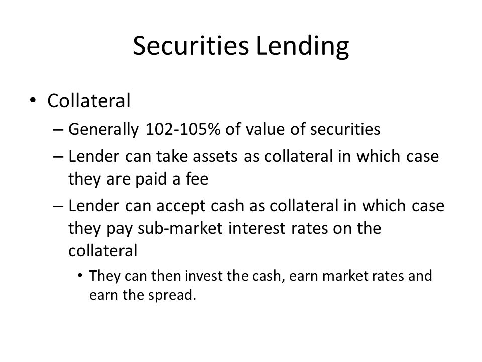 Securities Lending Collateral