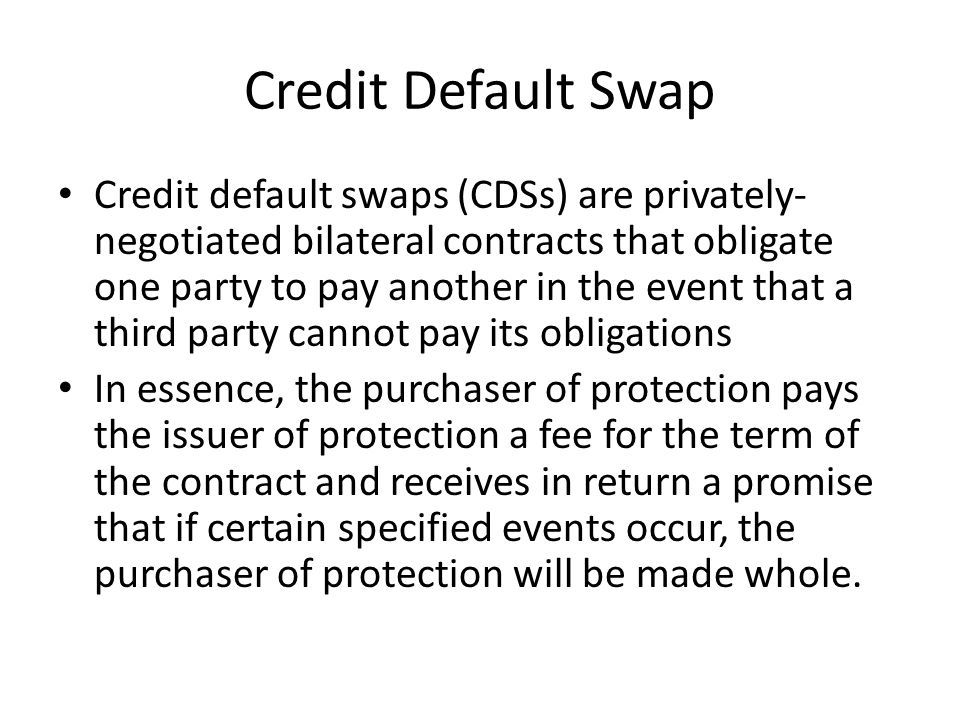 Credit Default Swap