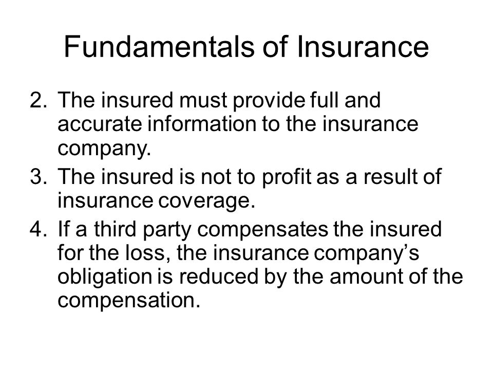 Fundamentals of Insurance