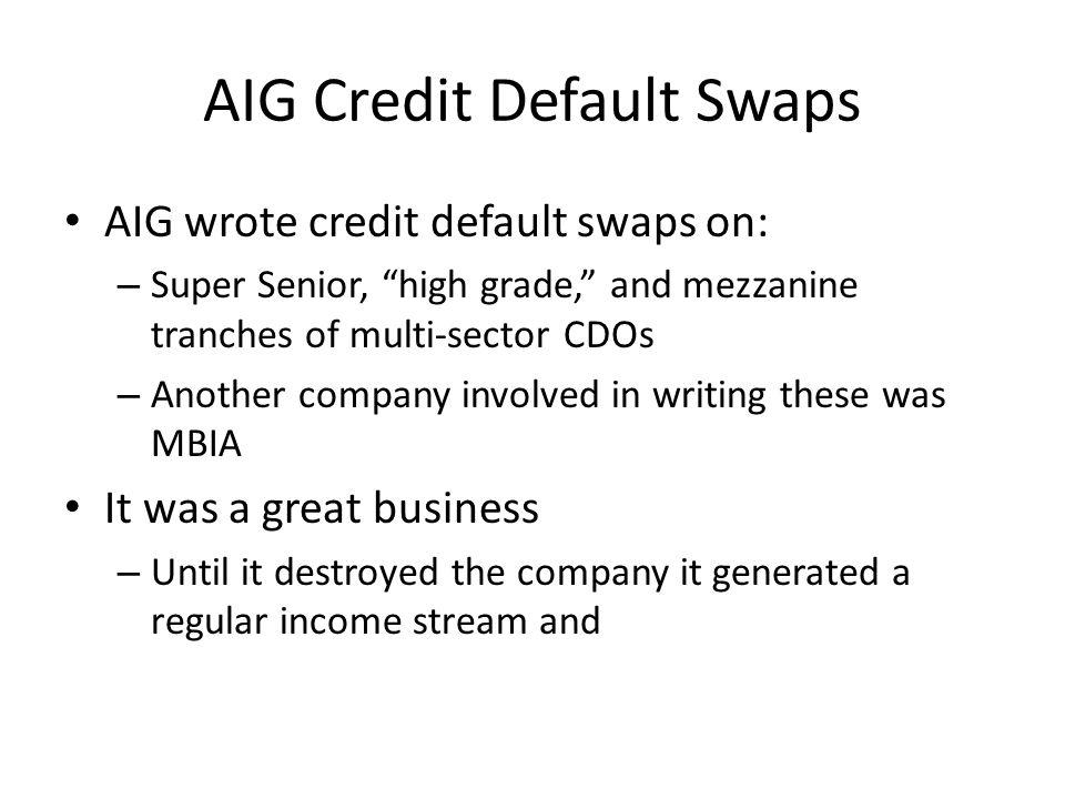 AIG Credit Default Swaps