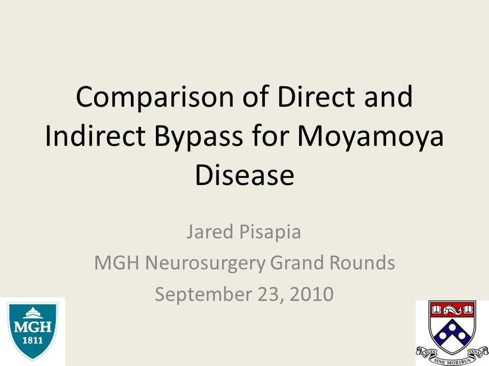 Comparison of Direct and Indirect Bypass for Moyamoya Disease