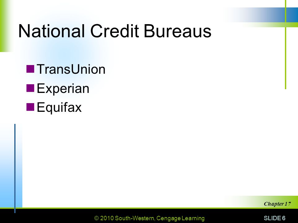 National Credit Bureaus