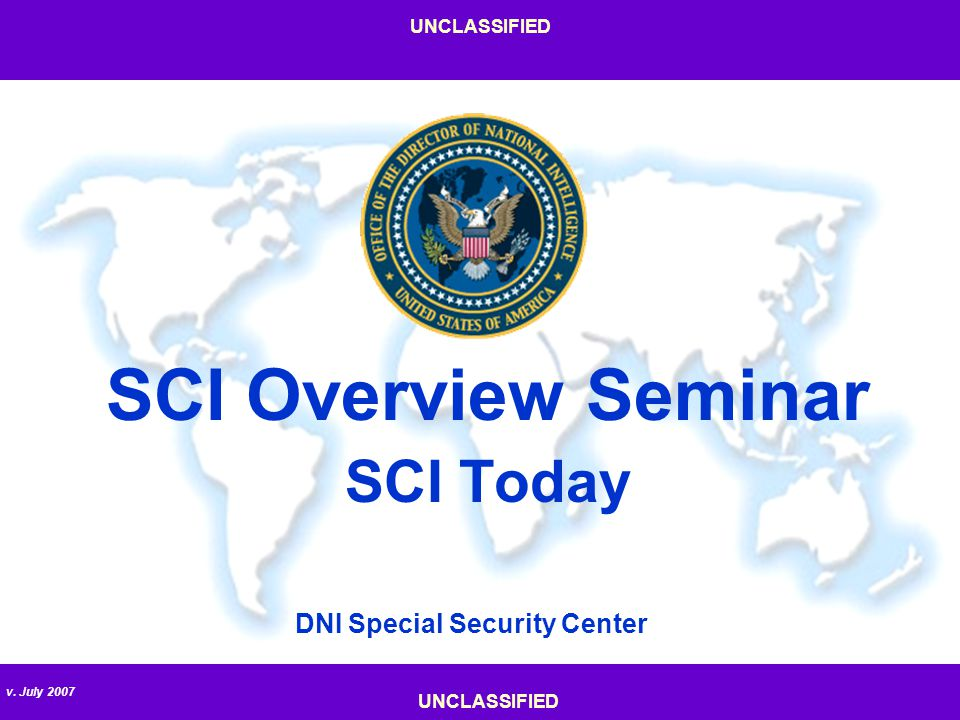 SCI Overview Seminar SCI Today