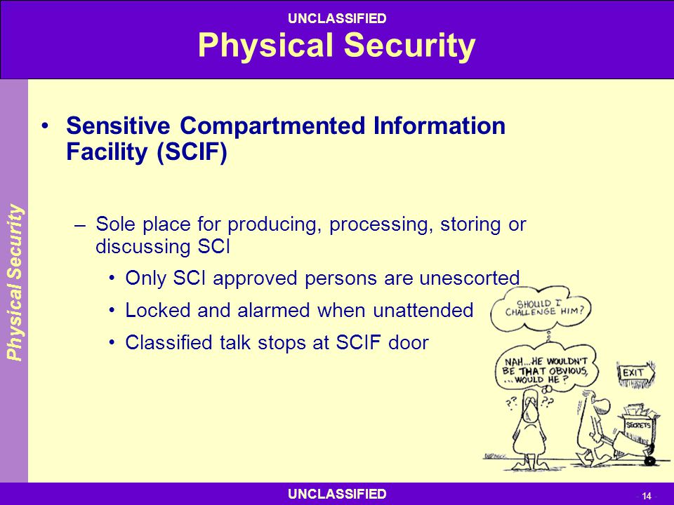 Physical Security Sensitive Compartmented Information Facility (SCIF)