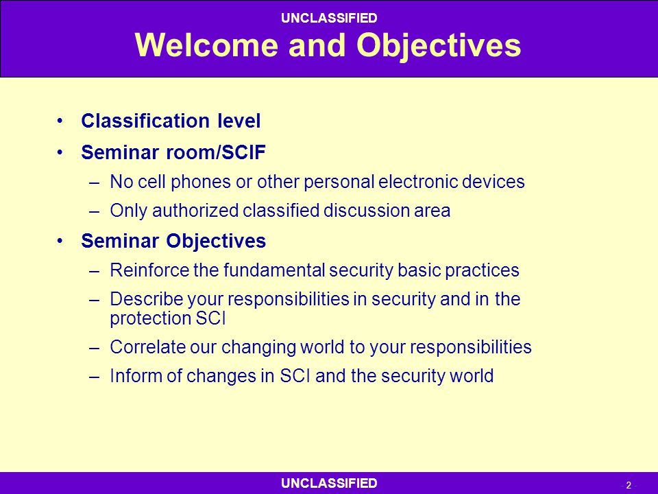 Welcome and Objectives