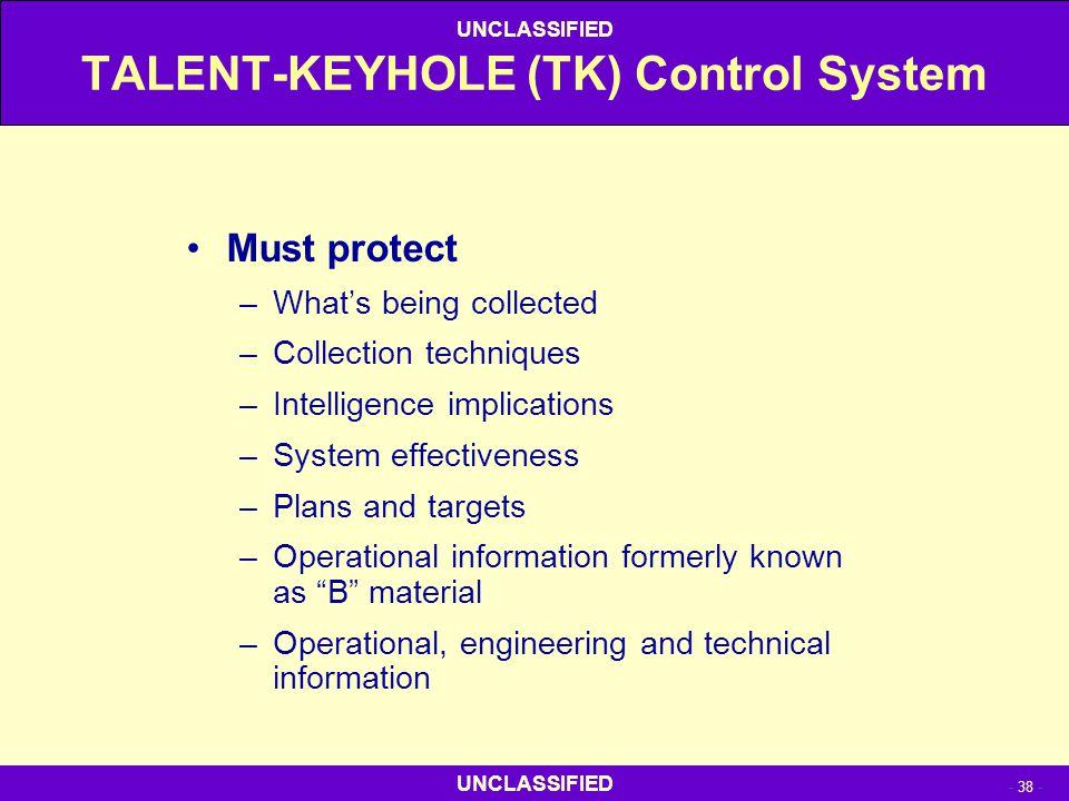 TALENT-KEYHOLE (TK) Control System