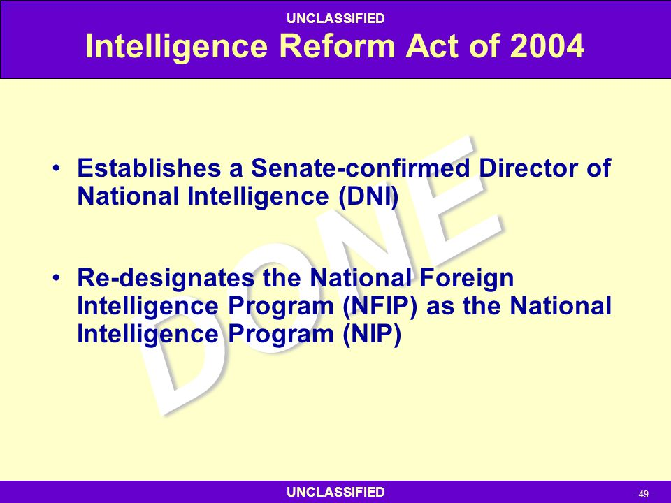 Intelligence Reform Act of 2004
