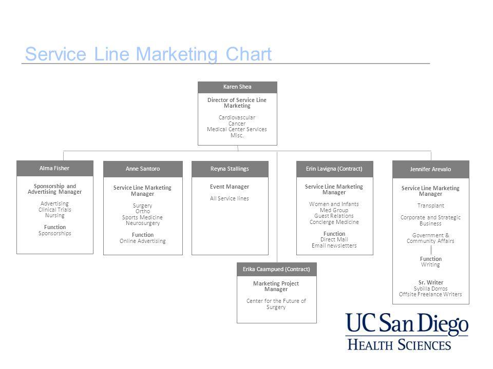 Service Line Marketing Chart