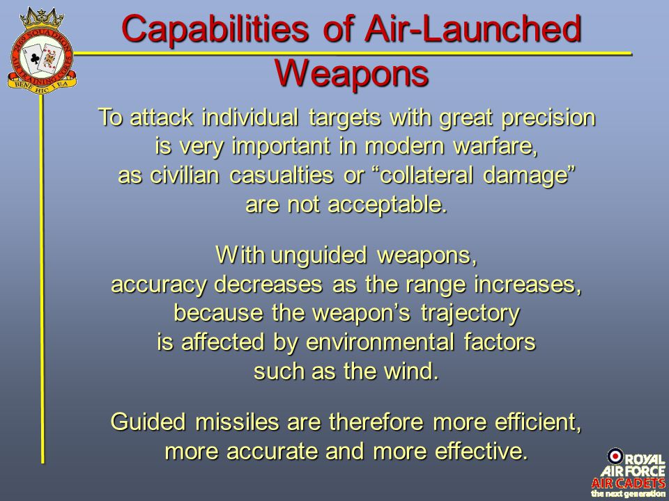 Capabilities of Air-Launched Weapons