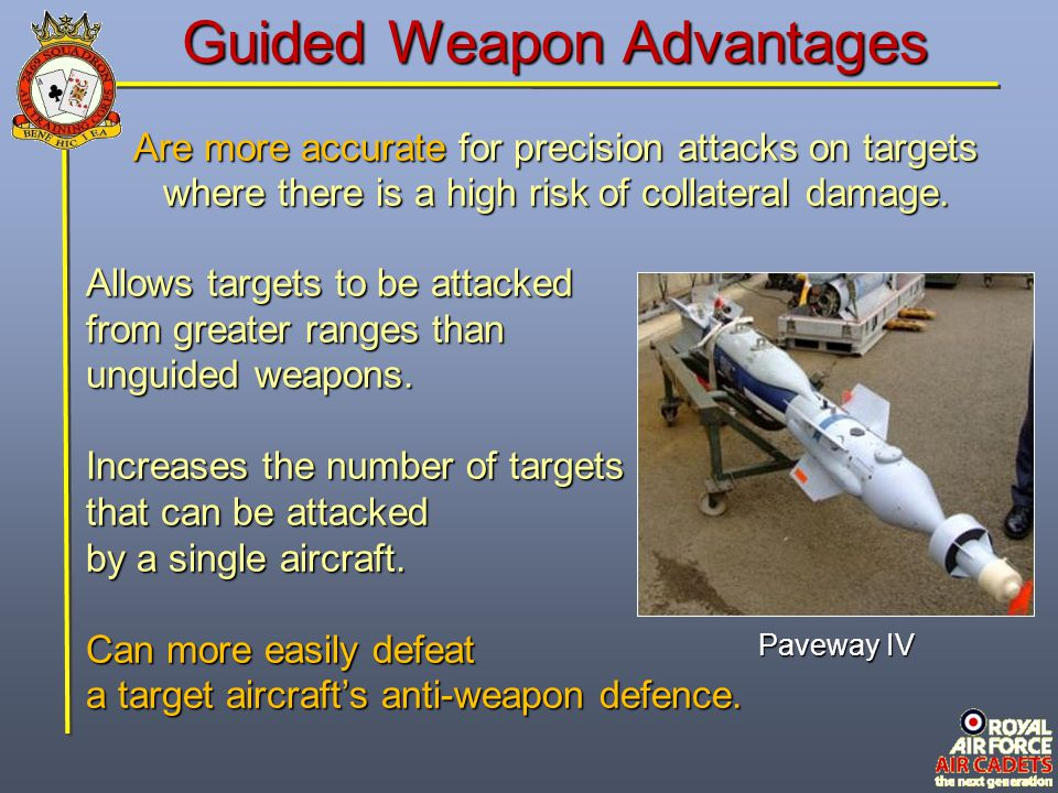 Guided Weapon Advantages