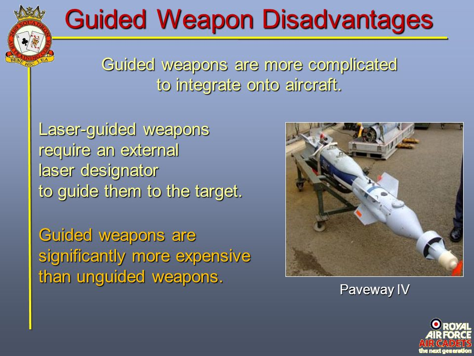 Guided Weapon Disadvantages