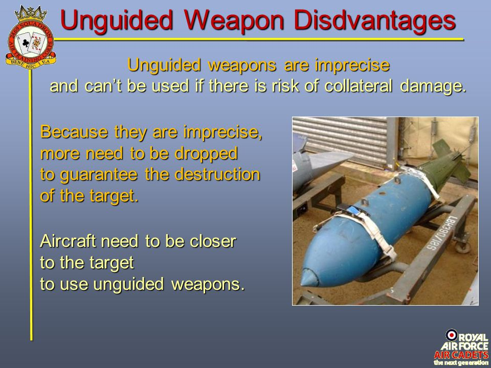 Unguided Weapon Disdvantages
