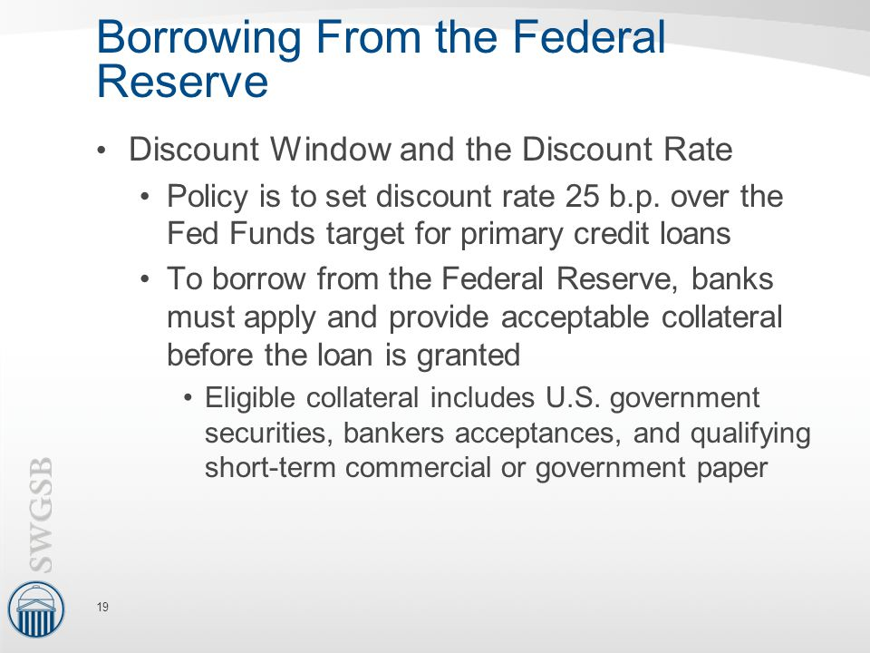 Borrowing From the Federal Reserve