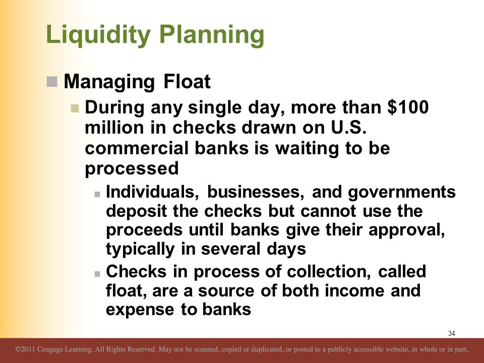 Liquidity Planning Managing Float