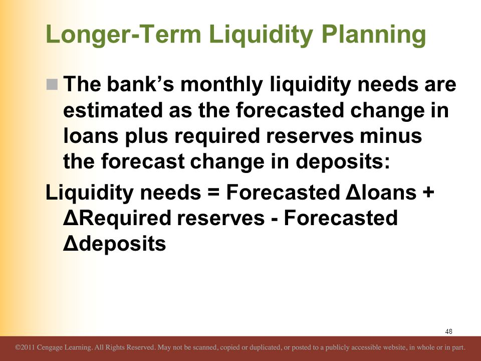 Longer-Term Liquidity Planning