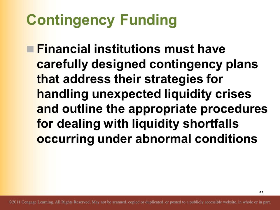 Contingency Funding