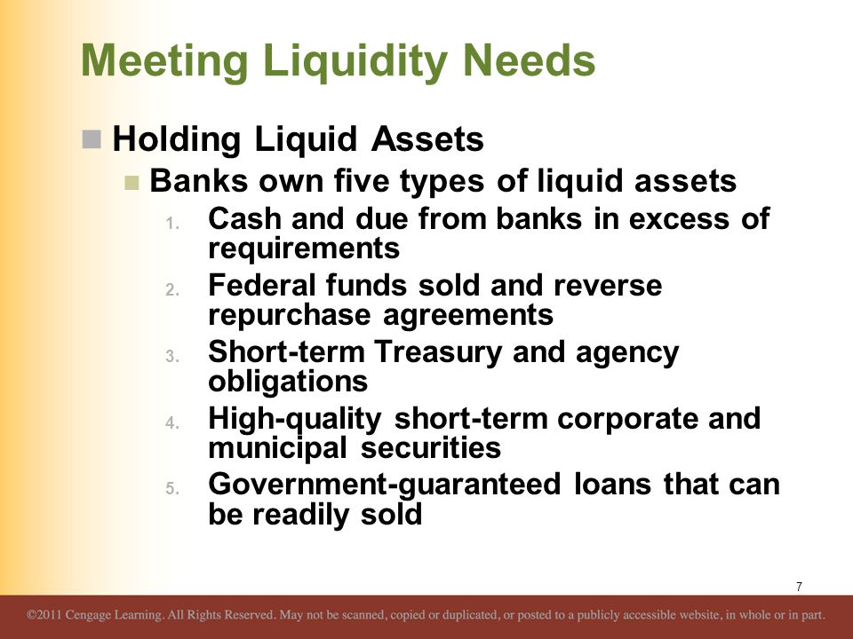 Meeting Liquidity Needs