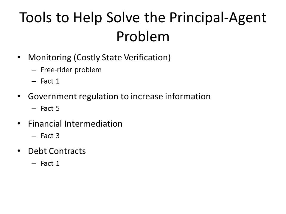 Tools to Help Solve the Principal-Agent Problem